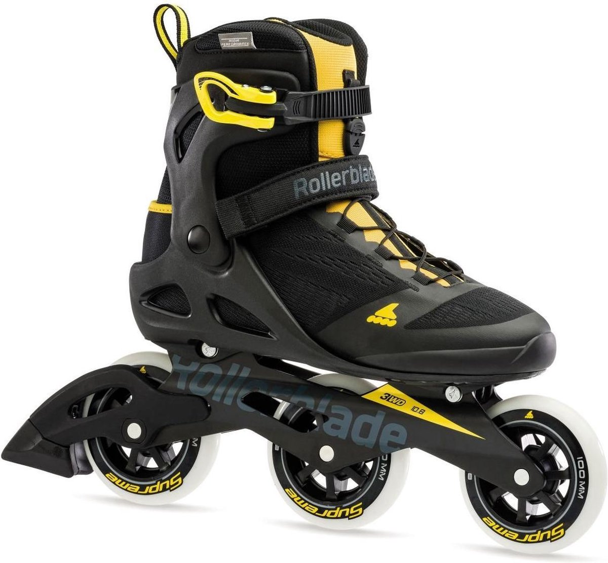Rollerblade Macroblade 3WD inline skates 100 mm black / saffron yellow