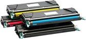 Toner cartridge / Alternatief voordeel pakket  Lexmark C734 C736 zwart, rood, geel, blauw