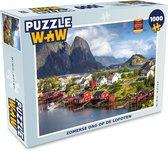 Puzzel 1000 stukjes volwassenen Lofoten eilanden Noorwegen 1000 stukjes - Zomerse dag op de Lofoten  - PuzzleWow heeft +100000 puzzels