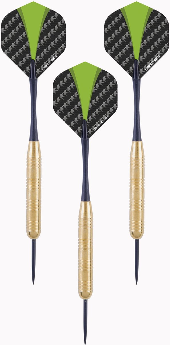 2 sets Brass Darts met aluminium shafts