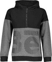 Bellaire Jongens sweaters Bellaire Kakoi Hooded fancy sweat dark grey melee 122/128