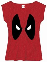 Deadpool - Angry Eyes Girls Vrouwen T-Shirt - Rood - XL