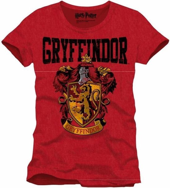 HARRY POTTER - T-Shirt Griffindor School - Red (XXL)