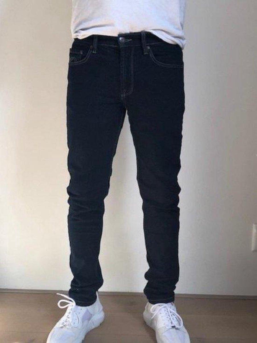 MASKOVICK Heren Jeans Milano stretch SlimFit -  BlueBlack - W28 X L34