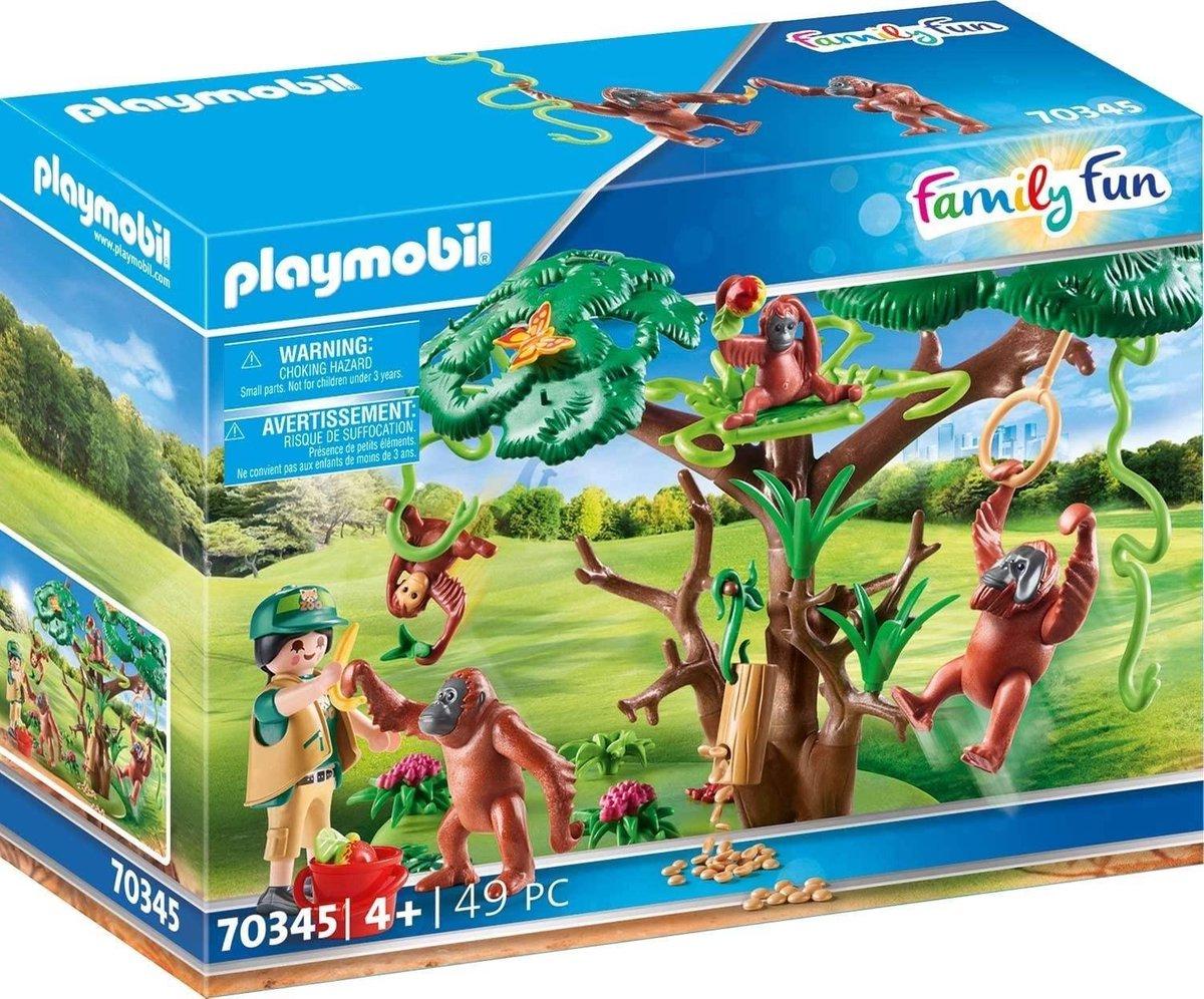 PLAYMOBIL Family Fun Oerang-Oetans in de boom - 70345