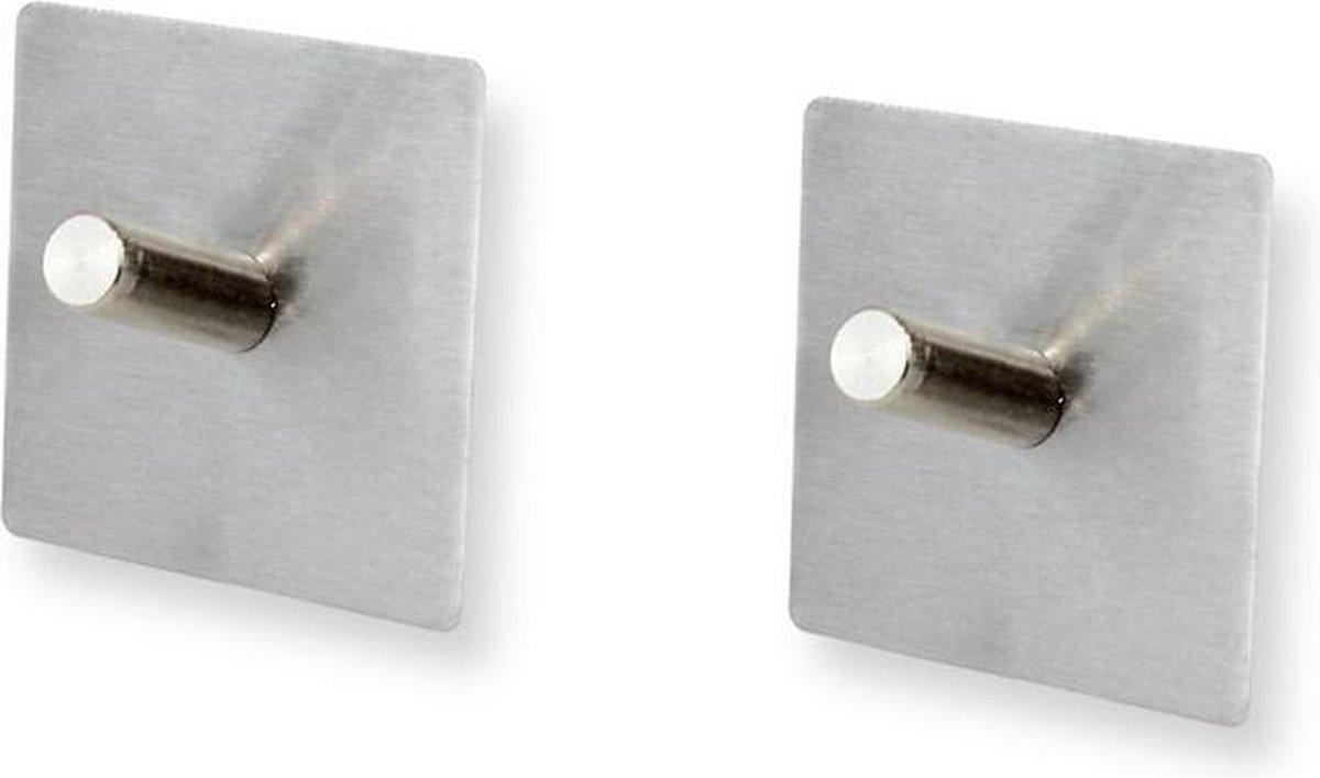 Handdoekhaakjes vierkant zelfklevend Confortime | set van 2 of 4