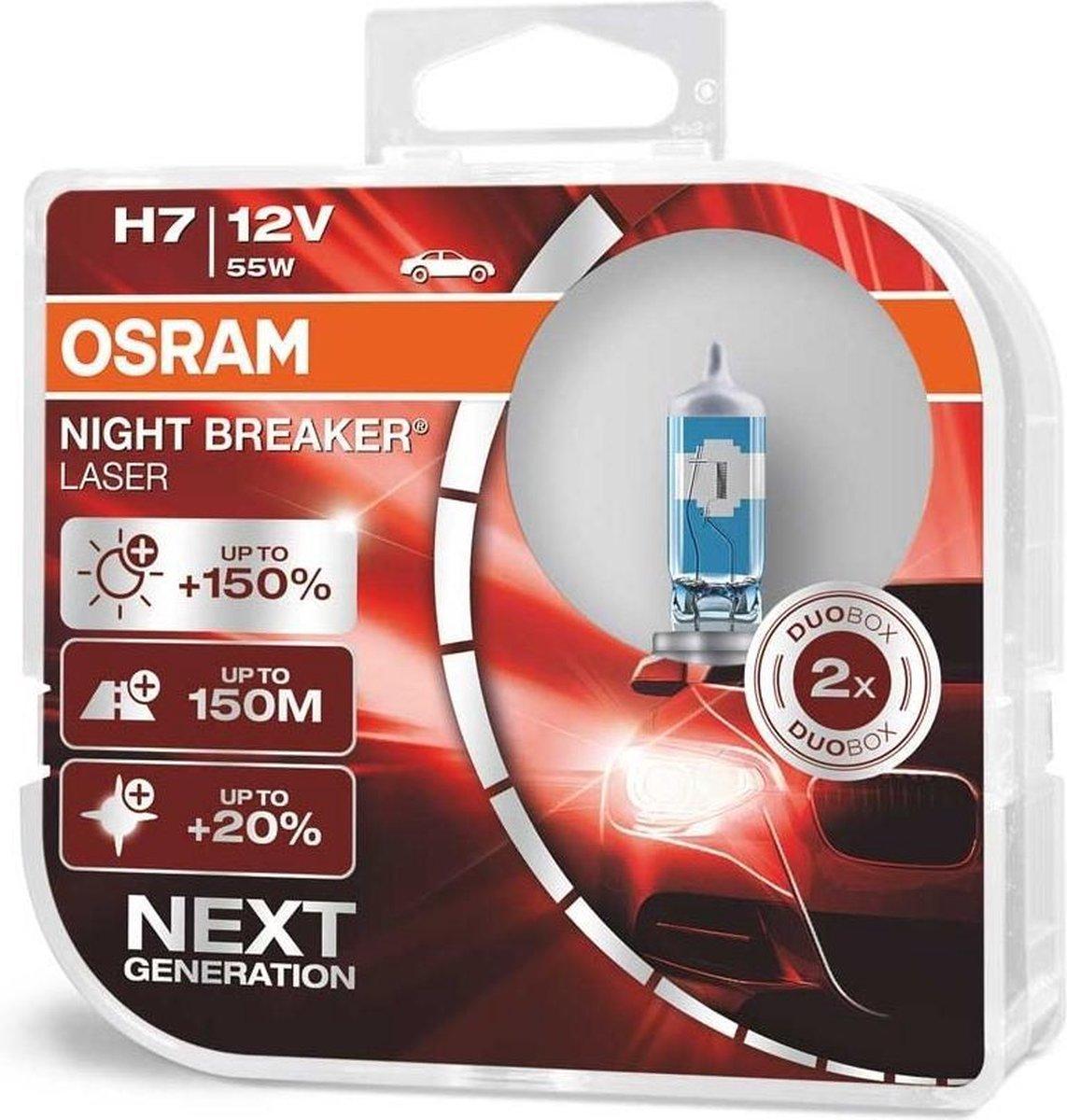 OSRAM Gloeilamp, H7 Night Breaker Laser Duo (64210NL-HCB)