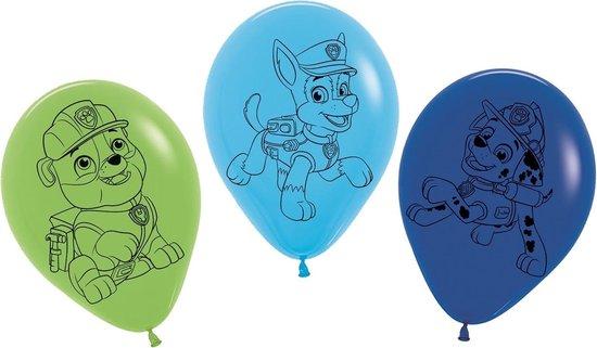 Tib Ballonnen Paw Patrol 30 Cm Latex Groen/blauw 5 Stuks