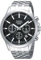 Pulsar PT3045X1 horloge heren - zilver - edelstaal