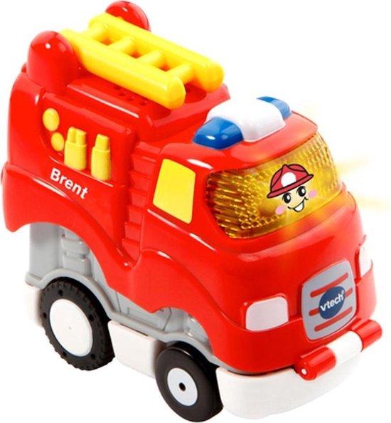 VTechToet Toet Auto's Press & Go Brent Brandweer - Educatief Babyspeelgoed