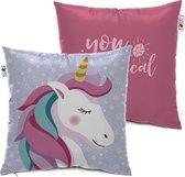 Arditex Kussen Unicorn Meisjes 40 X 40 Cm Polyester Roze/blauw
