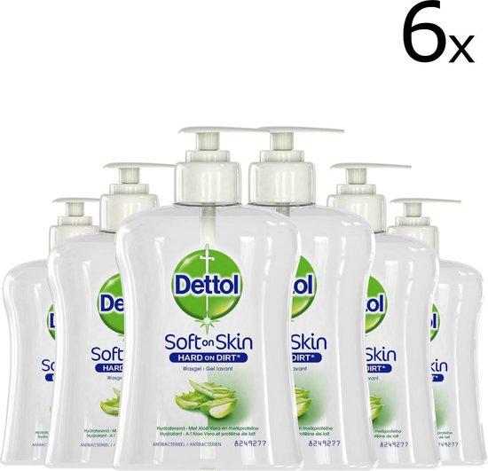 Dettol Handzeep - Antibacterieel - Verzachtend - Aloë Vera - 250ml x6