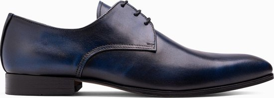 Paulo Bellini Dress Shoe Lucca Leather Blue.