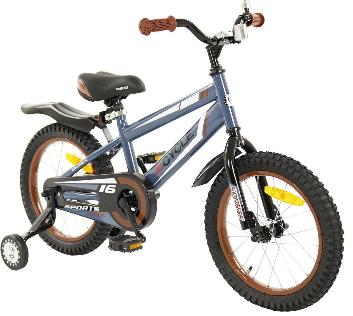 2Cycle Sports Kinderfiets - Jongens - 16 inch - Grijs