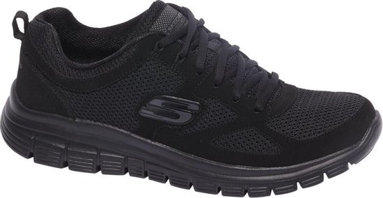 Skechers Burns 52635-BBK, Mannen, Zwart, Sneakers maat: 42 EU