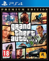 Cover van de game GTA V - (Grand Theft Auto 5) - Premium Edition - PS4