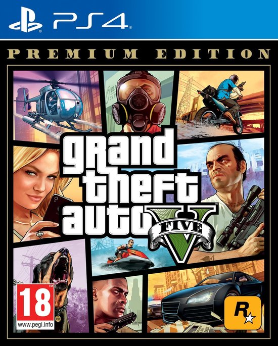 Afbeelding van GTA V - (Grand Theft Auto 5) - Premium Edition - PS4