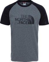 The North Face S/S Raglan Easy Tee  Shirt Heren - Tnfmediumgreyheather(Std) - Maat M