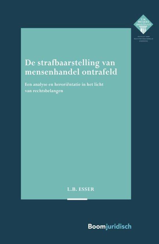 E.M. Meijers Instituut voor Rechtswetenschappelijk Onderzoek 325 -   De strafbaarstelling van mensenhandel ontrafeld