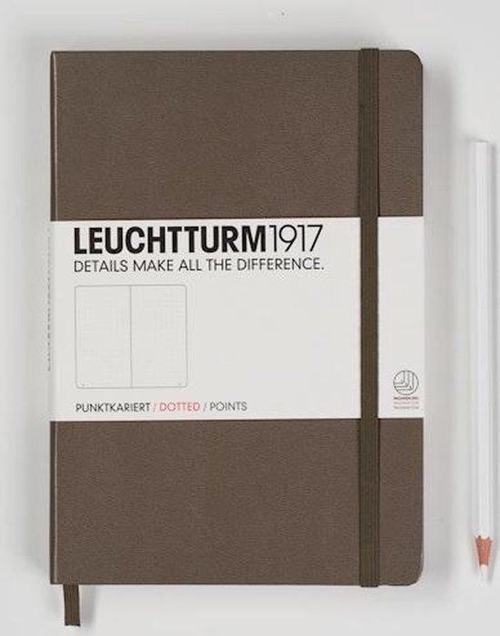 Leuchtturm1917 Notitieboek Taupe - Medium - Puntjes