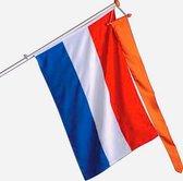 Nederlandse vlag 150 x 90 cm zonder oranje oranje wimpel - Gevelvlag - Koningsdag