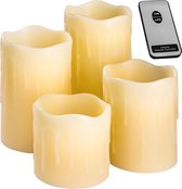 TecTake - 4 led kaarsen met afstandsbediening 401005