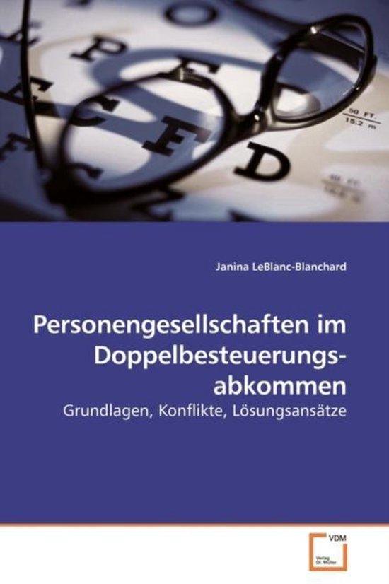 Personengesellschaften Im Doppelbesteuerungs- Abkommen