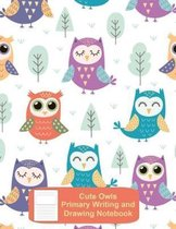 Cute Owls Primary Writing and Drawing Notebook