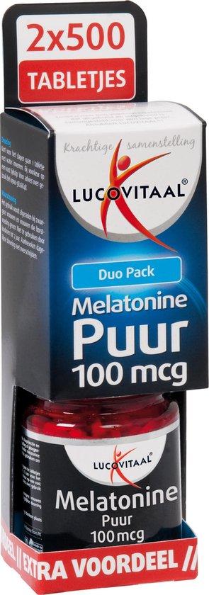 Lucovitaal Melatonine Puur 100 mcg Voedingssupplement - 2 x 500 Tabletten