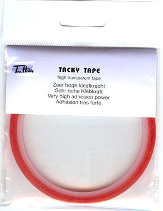 10 Rollen Tacky Tape - 6 mm x 5 mtr - Zeer hoge kleefkracht