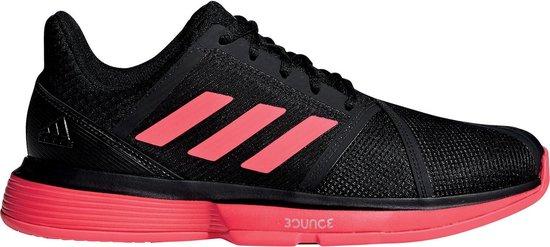 adidas CourtJam Bounce Tennis Sportschoenen - Maat 46 - Mannen - zwart/rood