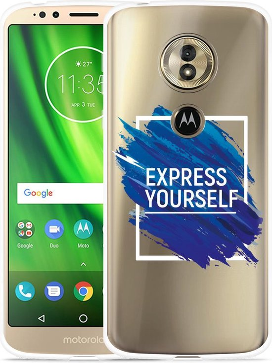 Moto G6 Play hoesje Express Yourself