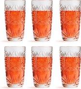 Libbey Longdrinkglas Atik - 270 ml / 27 cl - 6 Stuks - Vaatwasserbestendig - Vintage design - Hoge kwaliteit