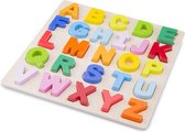 New Classic Toys Houten Alfabet Puzzel - Hoofdletters