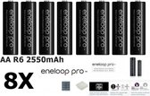 8 Stuks - AA HR6 Panasonic Eneloop PRO Oplaadbare Batterijen