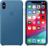Apple Lederen Back Cover voor iPhone Xs Max - Blauw