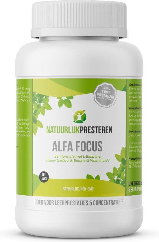 Natuurlijk Presteren Alfa Focus - Blauw Glidkruid met L-theanine, B3 en Biotine 60 CAPS