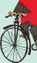 KEK Amsterdam Riding my Bike - Fotobehang - Groen