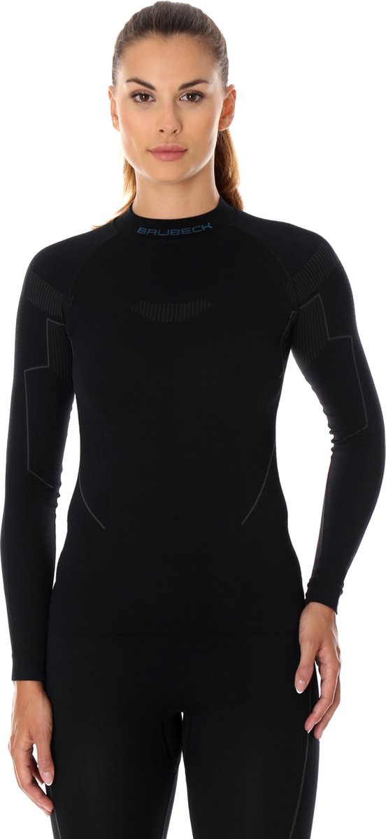 Dames Thermoshirt - Thermokleding - met Nilit® Innergy-Zwart-S