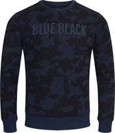 Blue Black Amsterdam Heren Trui Mathijs 2.0 - Blauwe Camouflage - Maat S