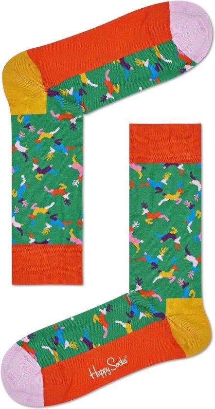 Happy Socks - Happy Holiday - kerst sokken - Reindeer - Unisex - Maat 36-40