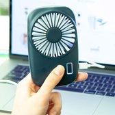 Kikkerland Handventilator Pocket Ventilator - Tornado blauw - mini