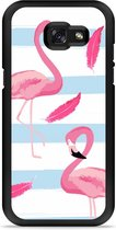 Galaxy A5 2017 Hardcase Hoesje Flamingo Feathers