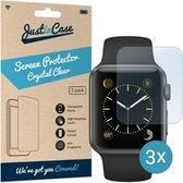 Just in Case Screen Protector voor de Apple Watch 42mm - Crystal Clear - 3 stuks