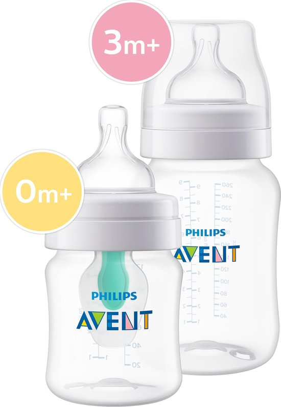 Philips AVENT Anti-Colic SCD809/01 Combi Babyfles (125ml) + (260ml) met AirFree Ventiel