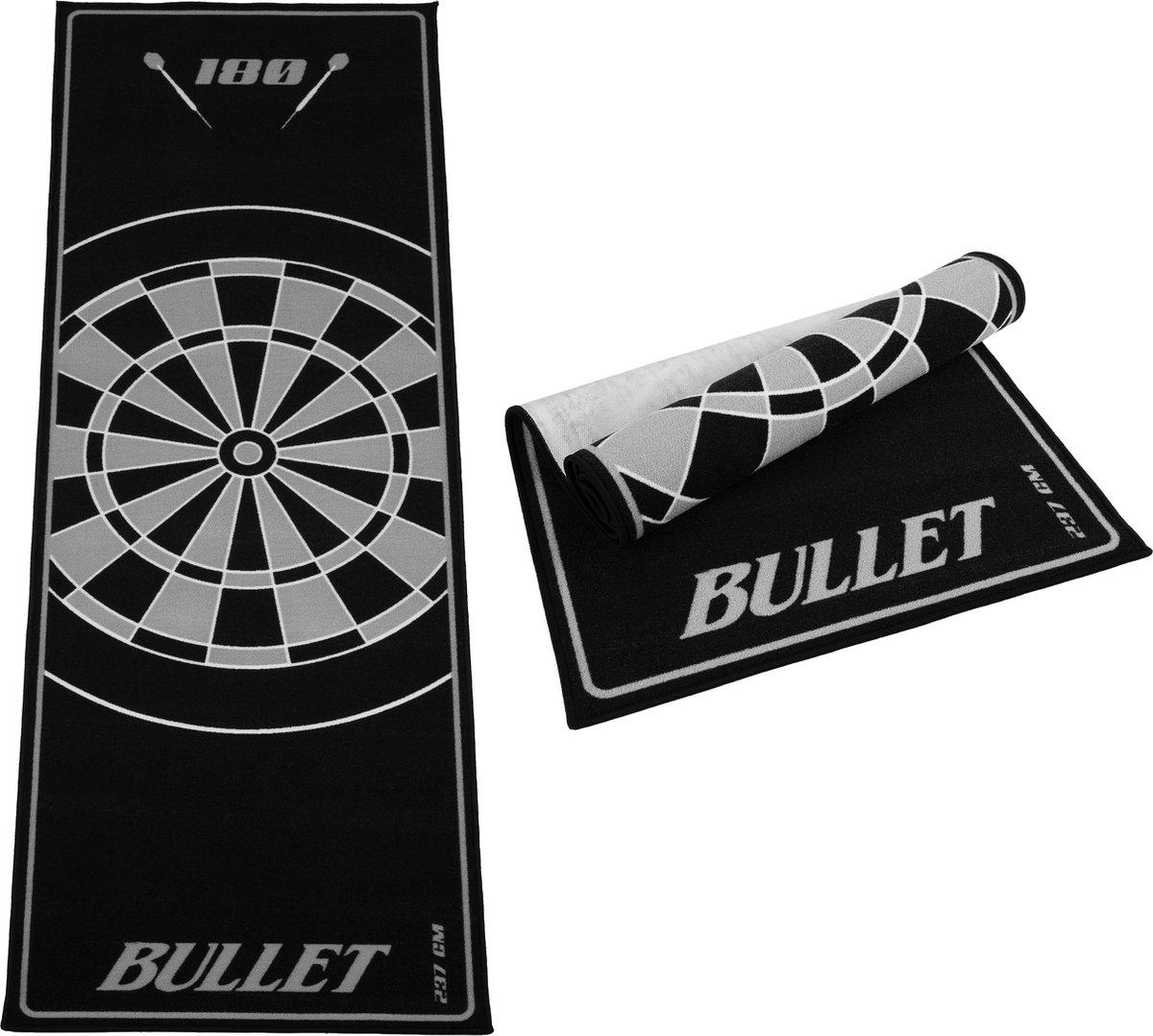 Dragon darts - Bullet Grijs 237x80 cm - dartmat - dart vloerkleed