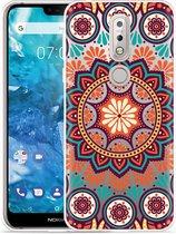 Nokia 7.1 Hoesje Retro Mandala