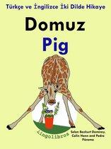 Türkçe ve İngilizce İki Dilde Hikaye: Domuz - Pig - İngilizce Öğrenme Serisi