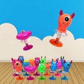 24 STUKS - Jump Up Monsters - Mix Gekleurde Omhoog Springende Monsters - Traktatie - Uitdeelcadeautjes voor jongens & Meisjes