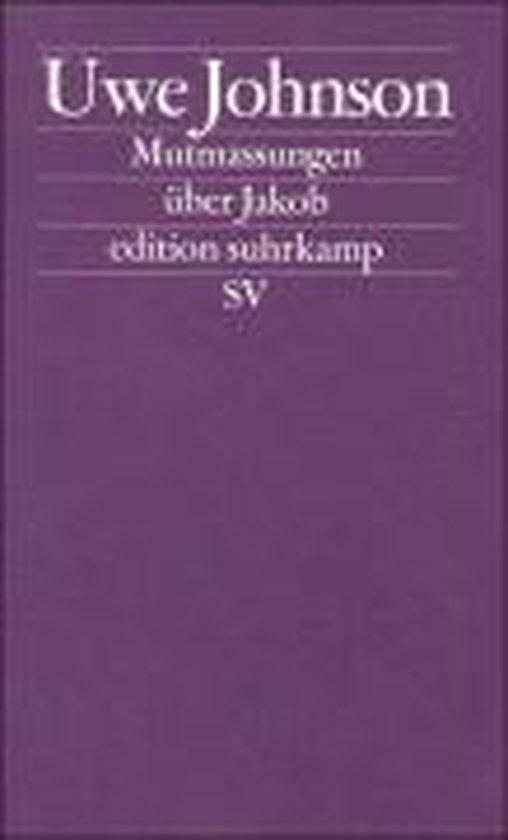 Boek cover Mutmassungen uber Jakob van Uwe Johnson (Paperback)